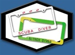 Innovative Scuba Concepts Plastic License Plate Frames