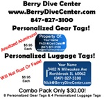 Personalized Gear Tags & Luggage Tag Combo Pack